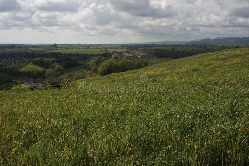 Ландшафт римской сельской местности стоковая фотография