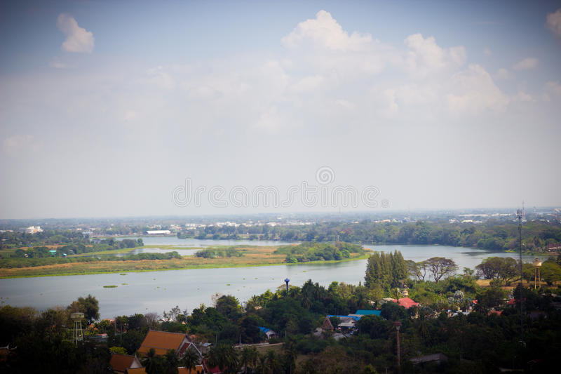 Ландшафт стороны страны - Таиланд стоковые изображения