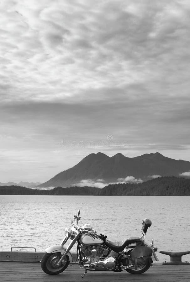 Ландшафт с мотоцилк в Nanaimo vancouver Канада стоковое изображение