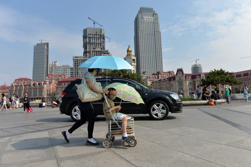 Ландшафт Тяньцзинь города стоковое фото rf