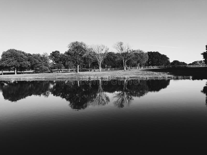 Ландшафт черно-белый стоковые фотографии rf