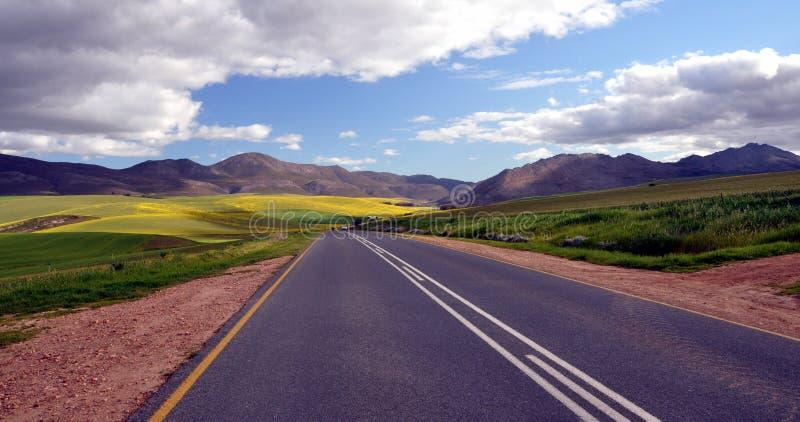 Ландшафт Южная Африка бесконечной дороги сельский стоковое фото rf