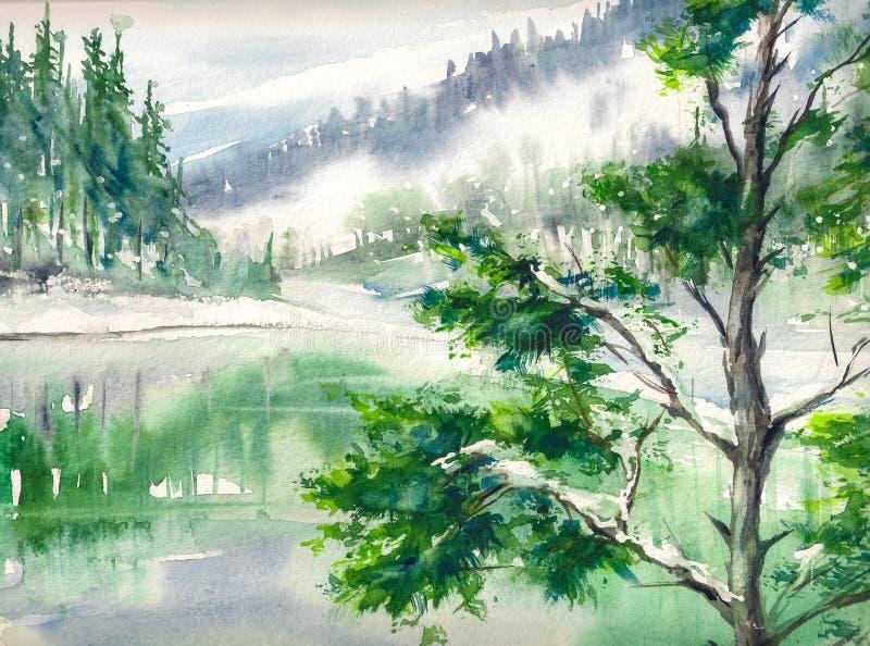 Ландшафт иллюстрация штока