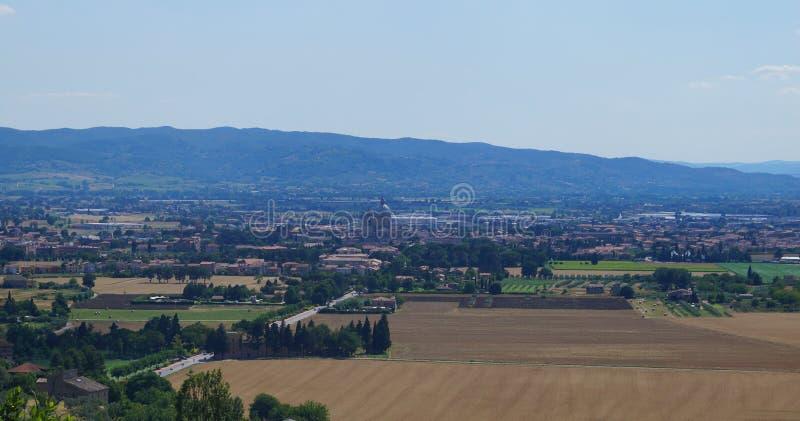 Ландшафт Assisi стоковое изображение
