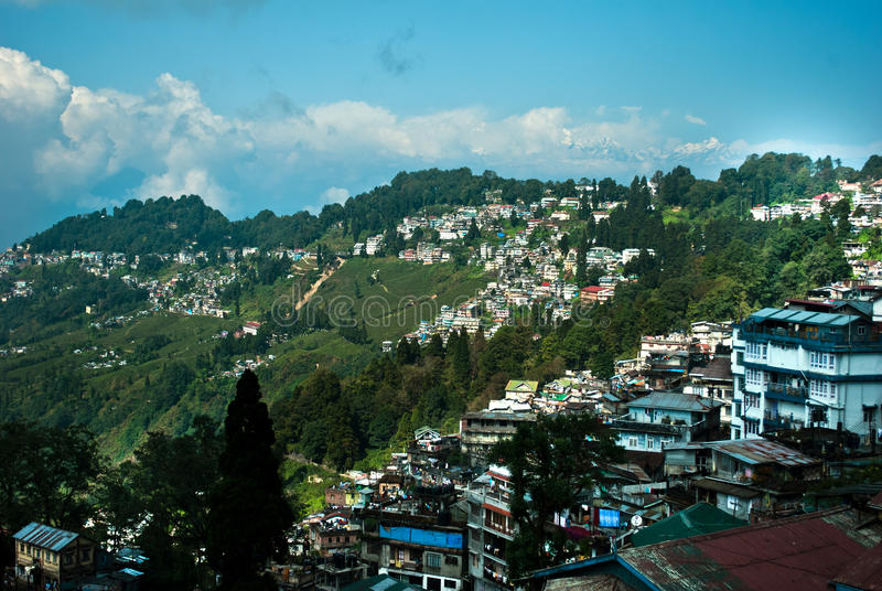 Ландшафт Darjeeling стоковое изображение rf