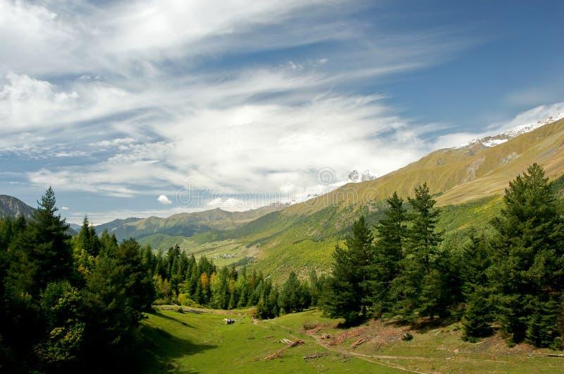 Ландшафт Georgia горы стоковые изображения rf