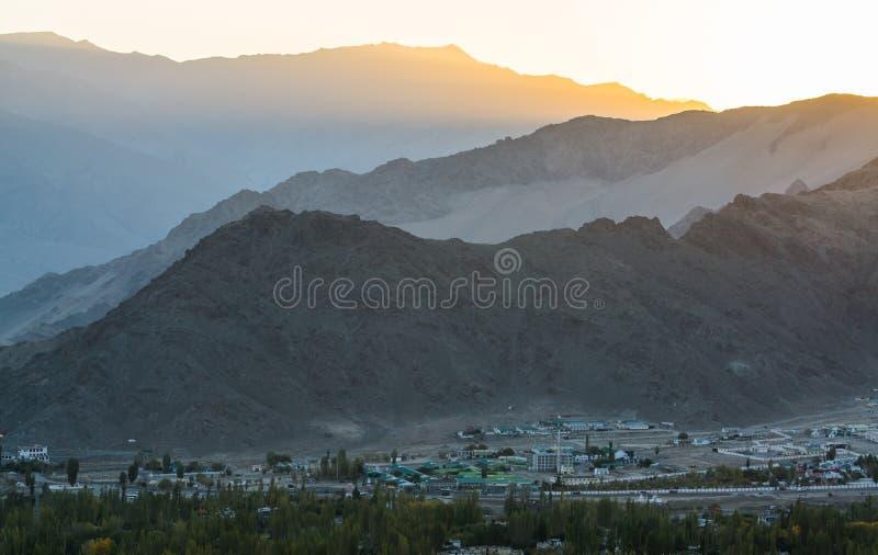 Ландшафт Leh Lakdh стоковые изображения rf