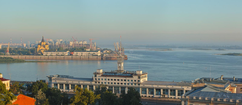 Ландшафт Nizhniy Новгорода стоковое изображение rf