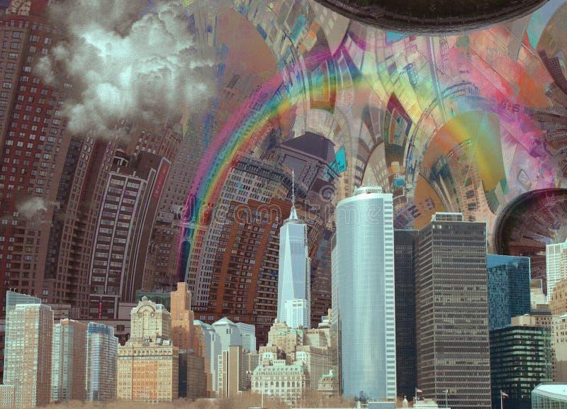 Ландшафт NYC иллюстрация штока