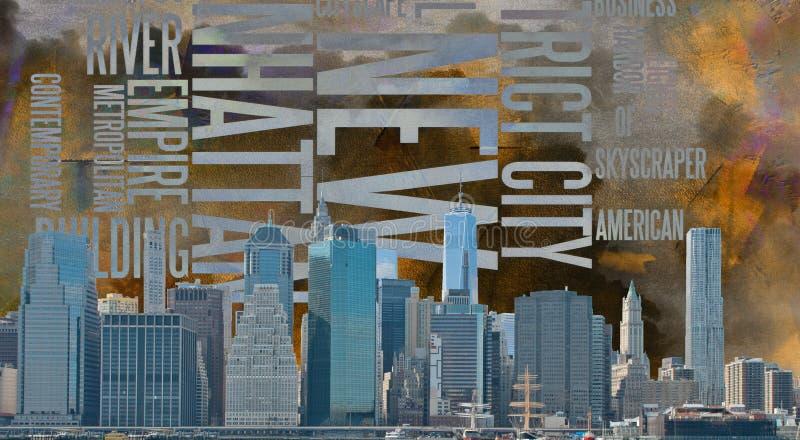 Ландшафт NYC бесплатная иллюстрация