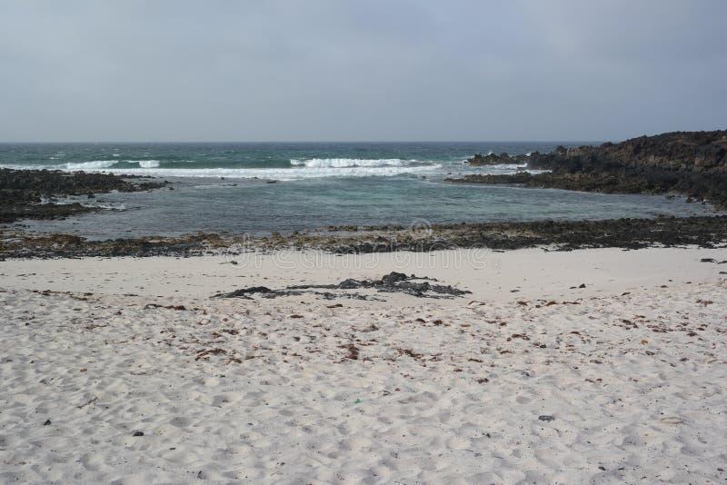 Ландшафт Orzola, Лансароте, остров canarias стоковое изображение rf