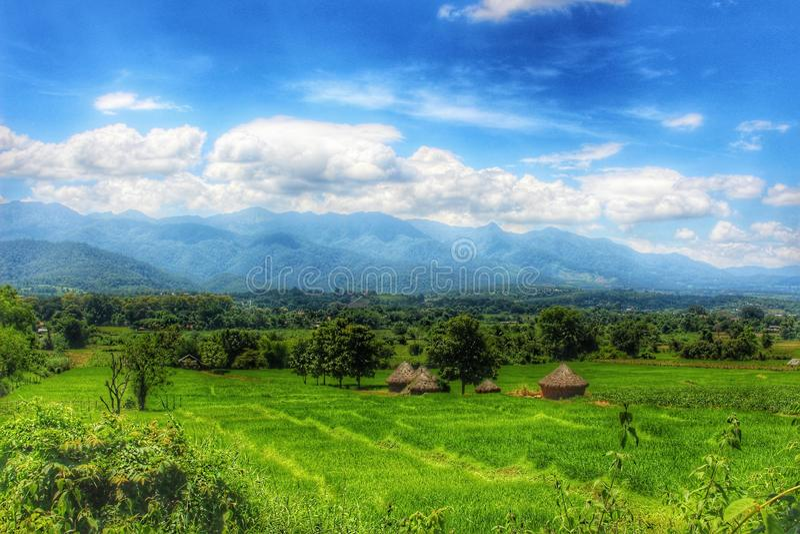 Ландшафт Pai - Таиланд стоковые фотографии rf