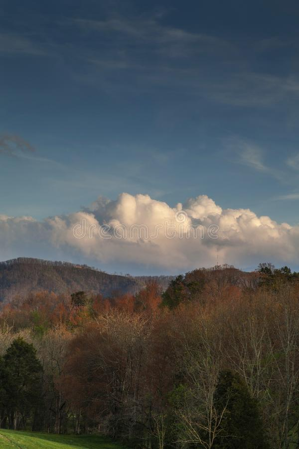 Ландшафт Sevier County, весна стоковое изображение rf