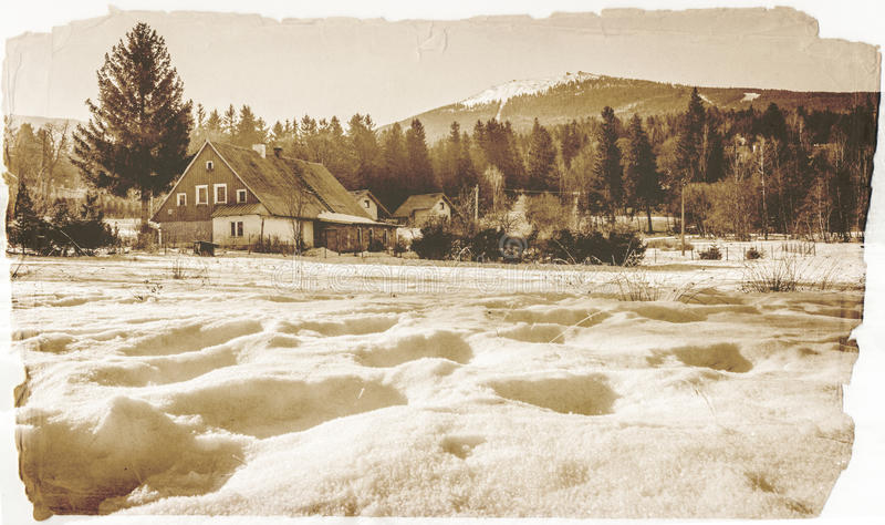 Ландшафт Szklarska Poreba стоковая фотография rf