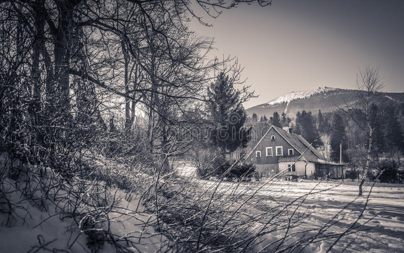 Ландшафт Szklarska Poreba стоковые фото