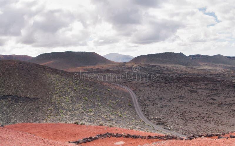 Ландшафт Timanfaya стоковые изображения