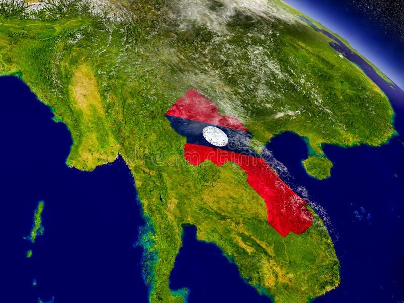 Download Лаос с врезанным флагом на земле Иллюстрация штока - иллюстрации насчитывающей astrix, карта: 81809666