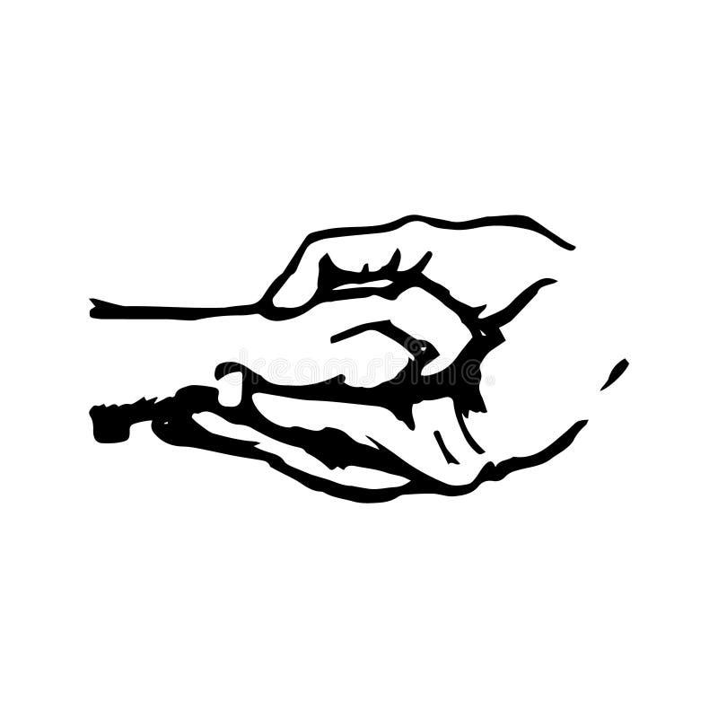 Лапка собаки в людской руке бесплатная иллюстрация