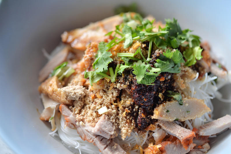 Лапша риса свинины стоковые изображения rf
