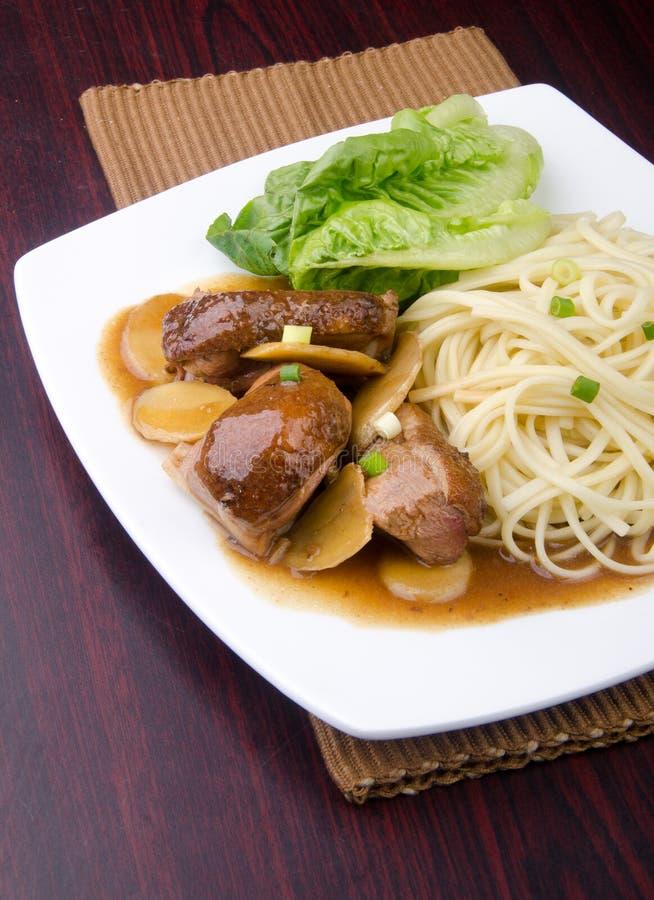 Лапша утки. еда Азии стоковые фото