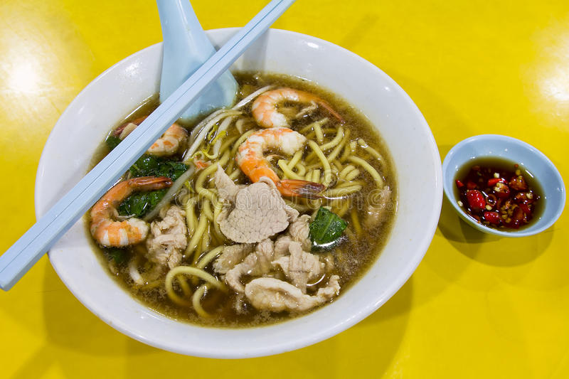 Лапша супа Mee креветки Hokkien стоковая фотография rf