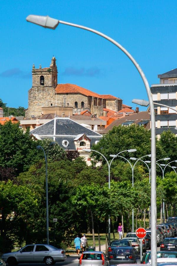 Ларедо, Кантабрия, Испания; 07-23-2010: Изображение удя городка Ларедо стоковое изображение rf