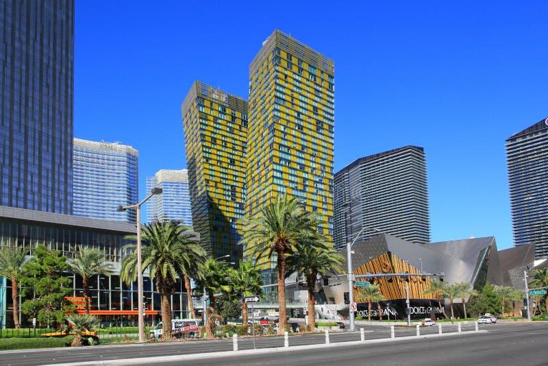 Лас Вегас Боулевард в Лас-Вегас, Неваде стоковое фото