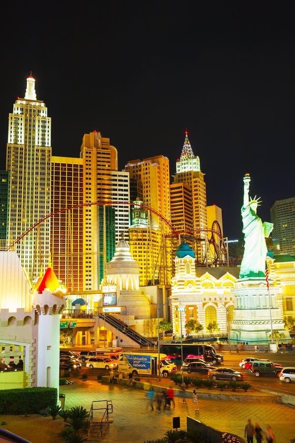 Лас Вегас Боулевард в ноче стоковая фотография rf