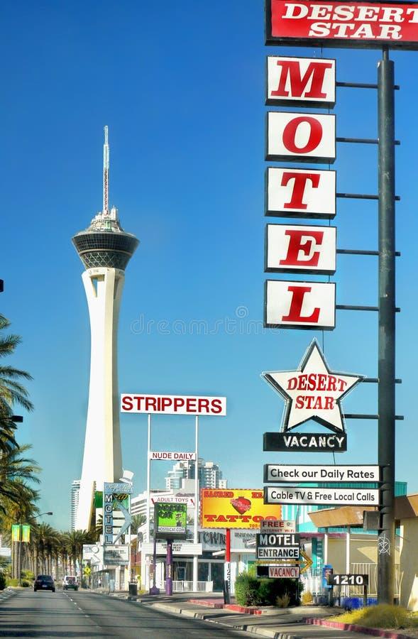 Лас-Вегас, гостиница башни стратосферы и казино, Невада стоковые фотографии rf