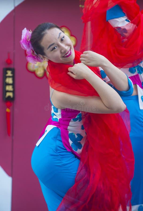 Лас-Вегас, китайский Новый Год стоковые фотографии rf