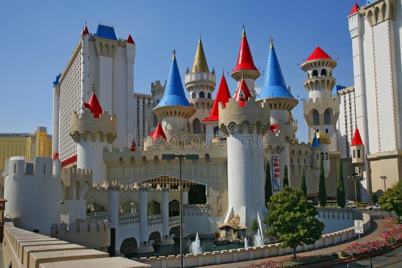 Лас-Вегас, Невада - 4-ое сентября 2012: Гостиница и Casin Excalibur стоковая фотография rf