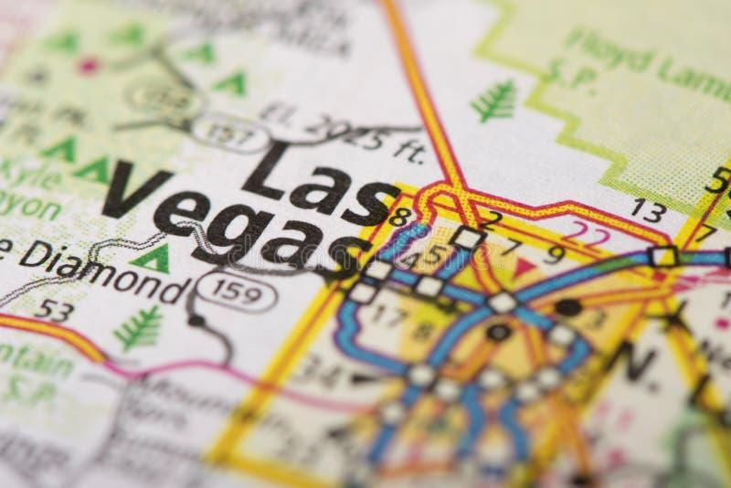 Лас-Вегас, Невада на карте стоковое фото