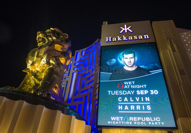 Лас-Вегас, ночной клуб Hakkasan стоковые изображения rf