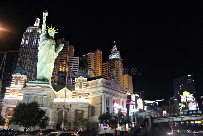 Лас-Вегас, Нью-Йорк Нью-Йорк стоковые фотографии rf