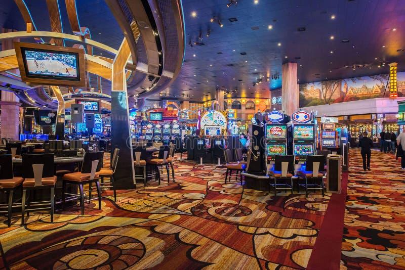 Лас-Вегас - 12-ое декабря 2013: Известные казино Лас-Вегас на Decem стоковые изображения rf