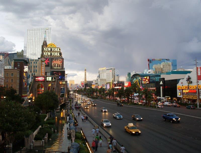 ЛАС-ВЕГАС - 25-ОЕ СЕНТЯБРЯ: Движение путешествует вдоль st Лас-Вегас стоковое изображение rf