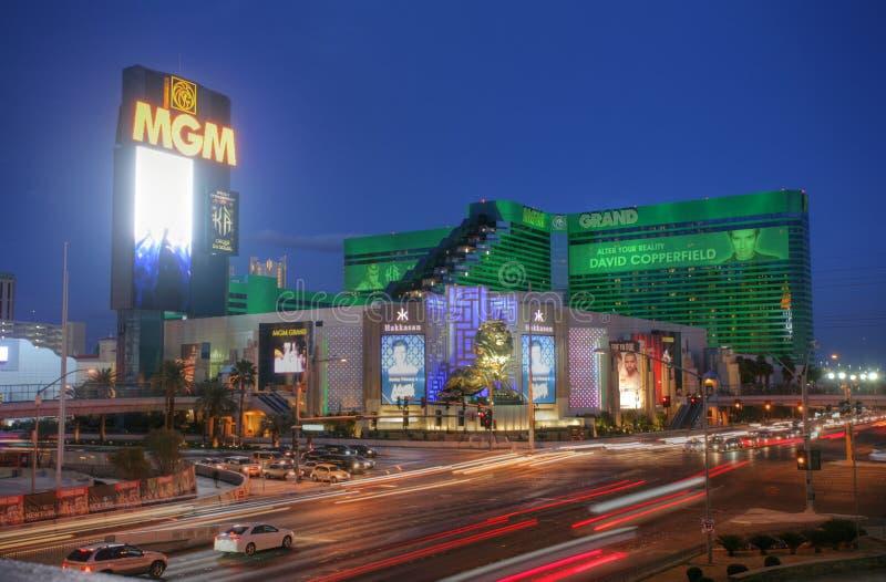 ЛАС-ВЕГАС - ОКОЛО 2014: Гостиница & казино Эм-Джи-Эм Гранда дальше ОКОЛО I 2014 стоковая фотография rf
