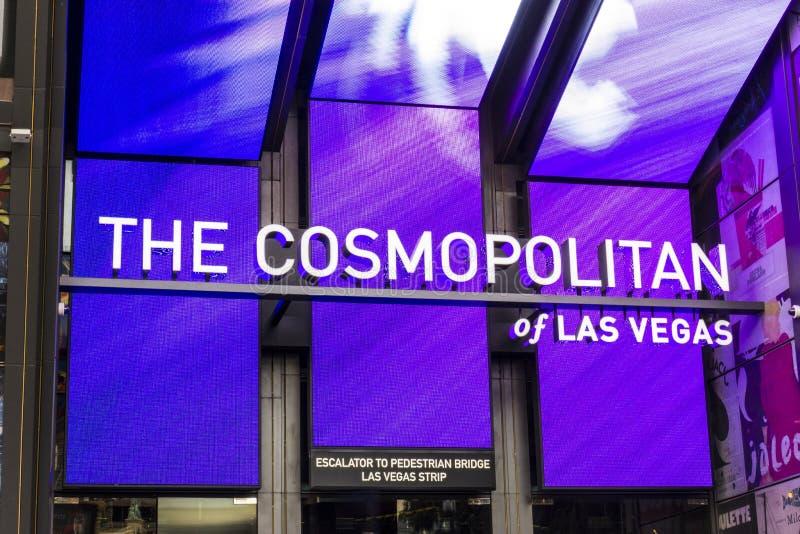 Лас-Вегас - около декабрь 2016: Космополитическое Лас-Вегас Космополитическое казино и гостиница курорта на прокладке II стоковое изображение