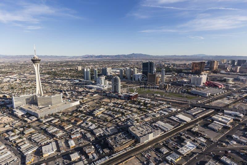 Лас-Вегас прибегает антенна стоковые фотографии rf