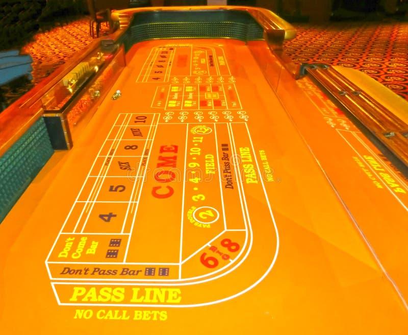 Лас-Вегас, Соединенные Штаты Америки - 11-ое мая 2016: Таблица для карточной игры в казино Fremont стоковое изображение