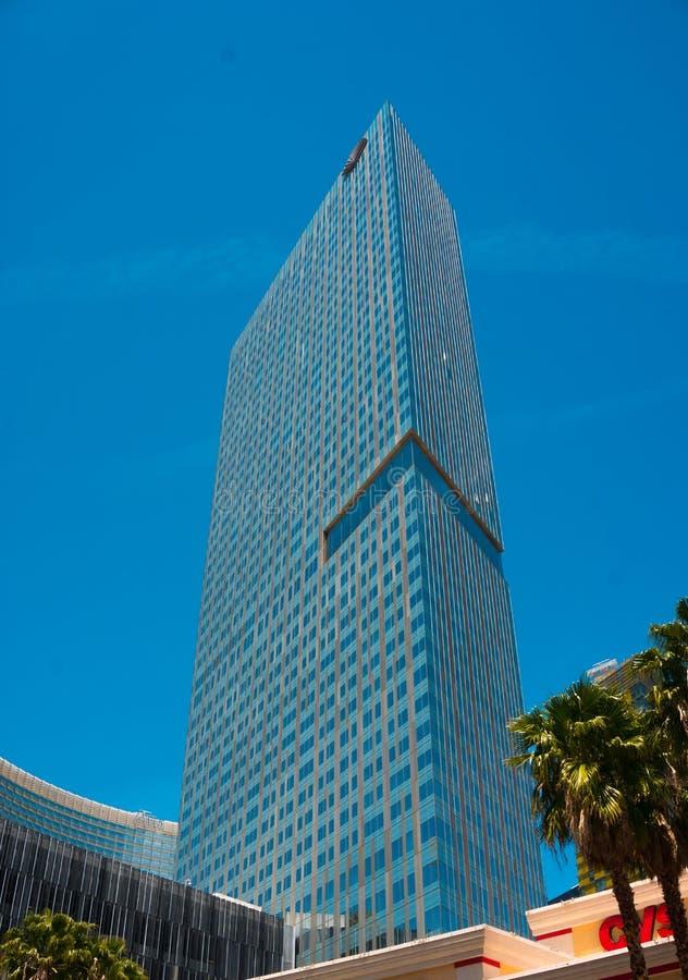 Лас-Вегас, США - 4-ое мая 2016: Гостиница арии на CityCenter, городской комплекс на 76 акрах 31 ha обнаружила местонахождение про стоковые фотографии rf