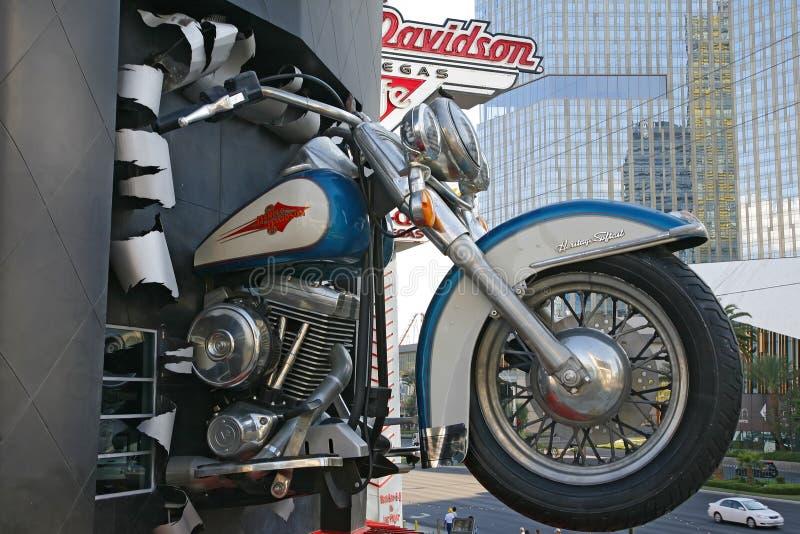 ЛАС-ВЕГАС, США - 4-ОЕ СЕНТЯБРЯ: Кафе Harley Davidson в прокладке стоковая фотография