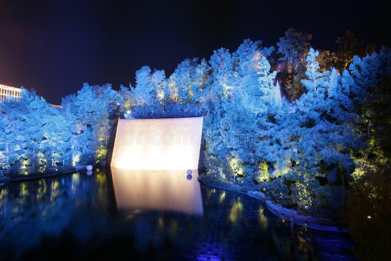 ЛАС-ВЕГАС - 3-ЬЕ ФЕВРАЛЯ: Озеро мечт на курортном отеле WYNN на Fe стоковые изображения