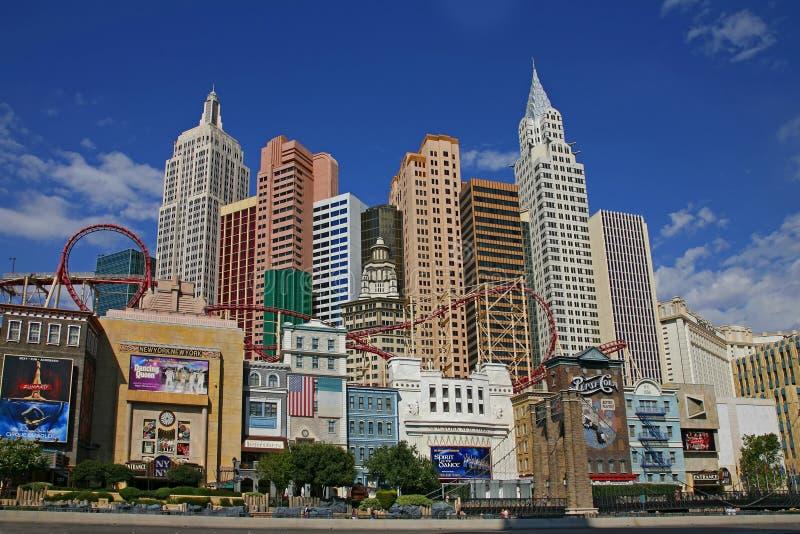 ЛАС-ВЕГАС - 4-ОЕ СЕНТЯБРЯ: Новое Йорк-Новое казино гостиницы Йорк создавая I стоковое фото