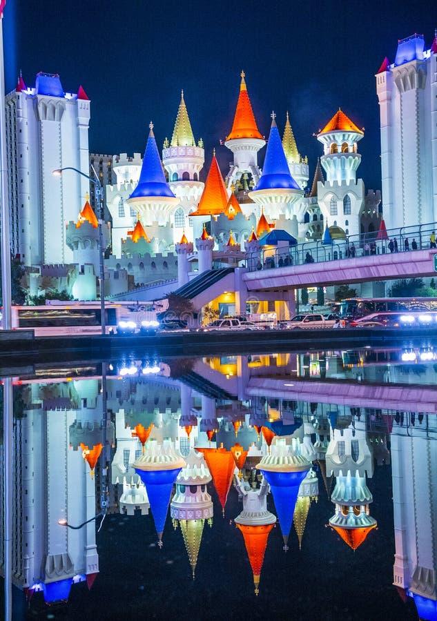 Лас-Вегас, Excalibur стоковые фотографии rf