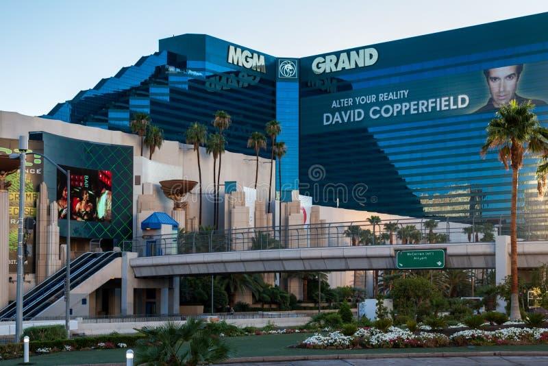 ЛАС-ВЕГАС, NEVADA/USA - 1-ОЕ АВГУСТА; Взгляд гостиницы Эм-Джи-Эм Гранда в Ла стоковая фотография