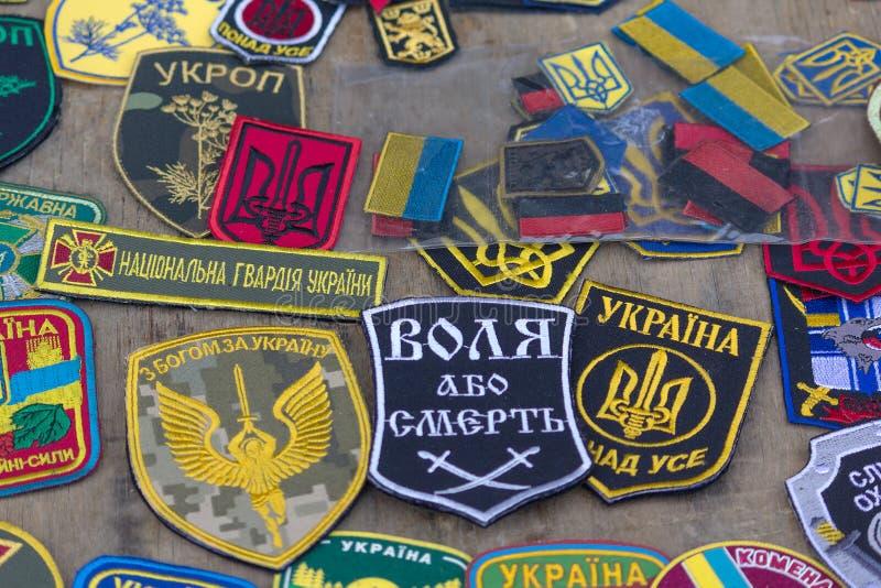 Латает военные части украинцев стоковое изображение rf