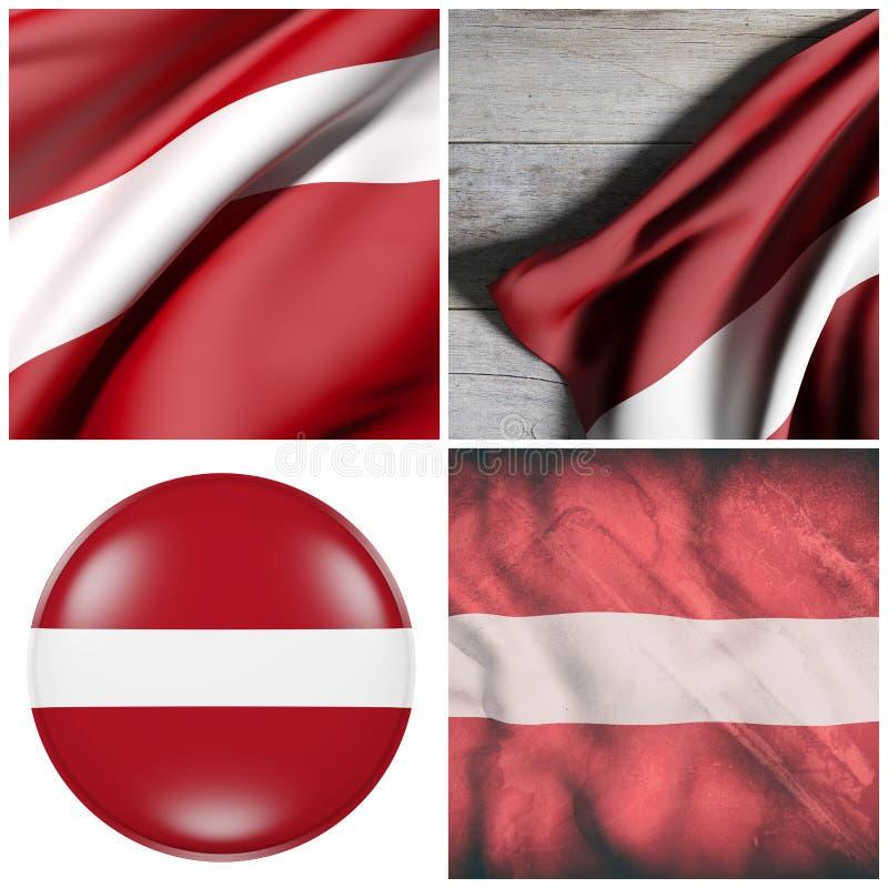Латвия сигнализирует состав иллюстрация штока