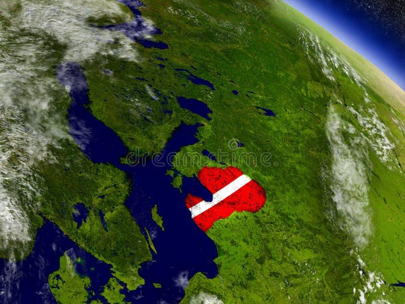 Download Латвия с врезанным флагом на земле Иллюстрация штока - иллюстрации насчитывающей реалистическо, зона: 81809121