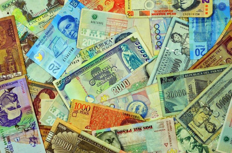Латино-американские валюты стоковое изображение rf
